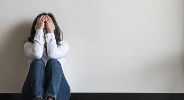 woman with a panic disorder
